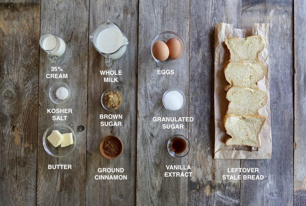 Ingredients for Pain Perdu