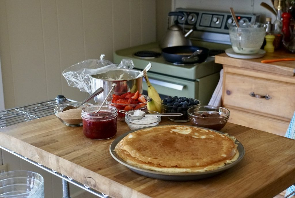 A stack of gluten-free Swedish pancakes
