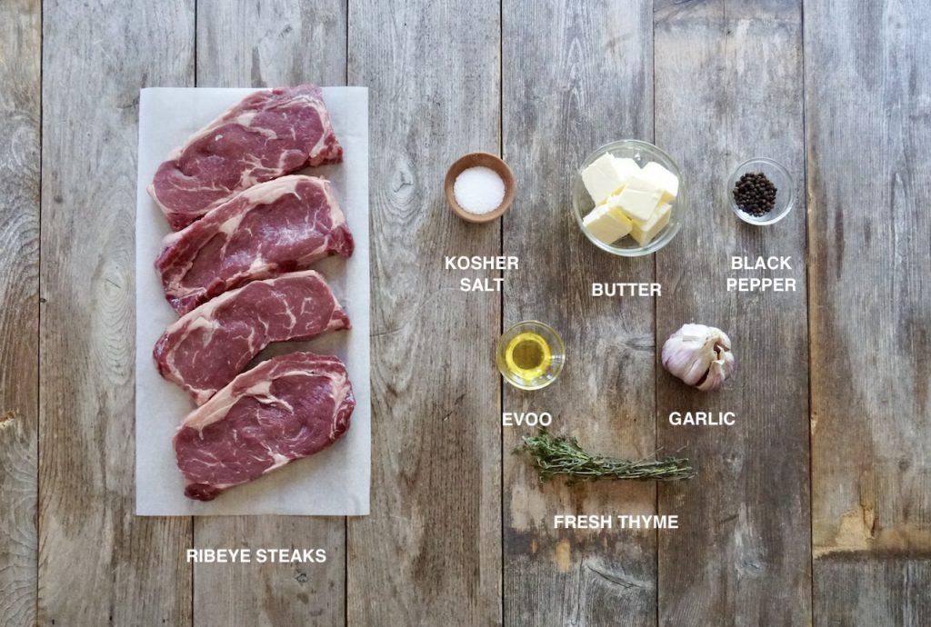 Ingredients for Grilled Ribeye Steaks