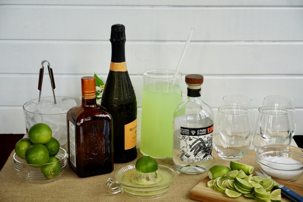 Ingredients for Margarita Fizz Punch
