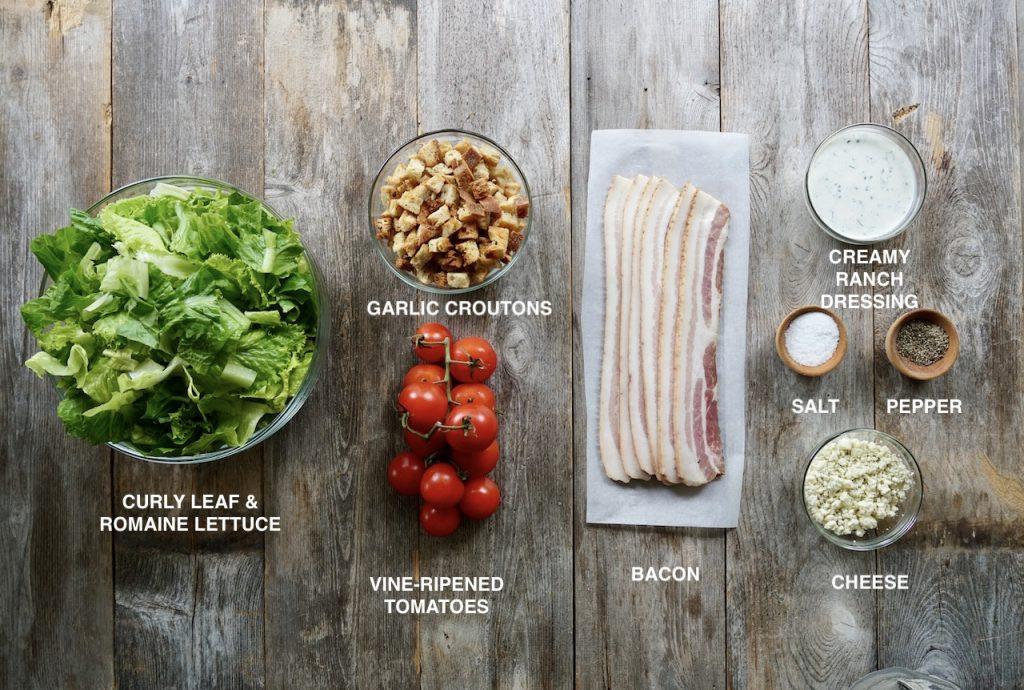 Ingredients for BLT Salad