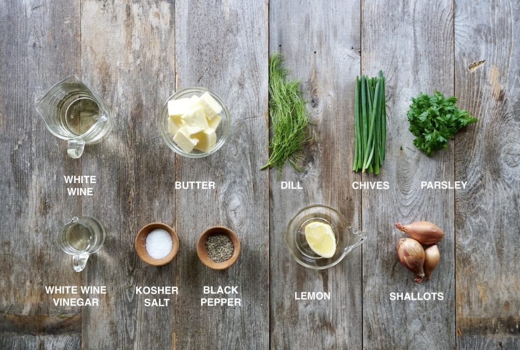 Ingredients for Herbed Beurre Blanc