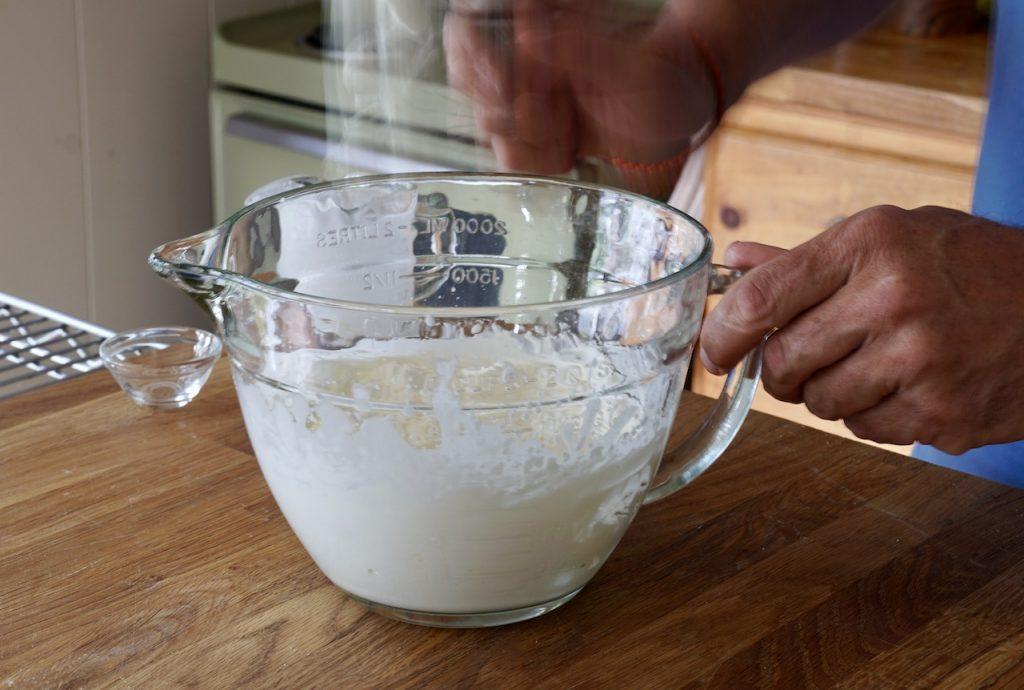 Freshly whipped cream