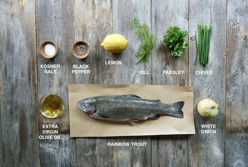 Ingredients for Whole Grilled Rainbow Trout