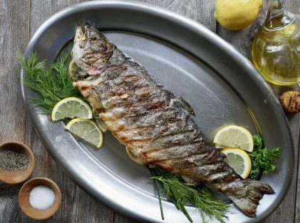 Whole Grilled Rainbow Trout