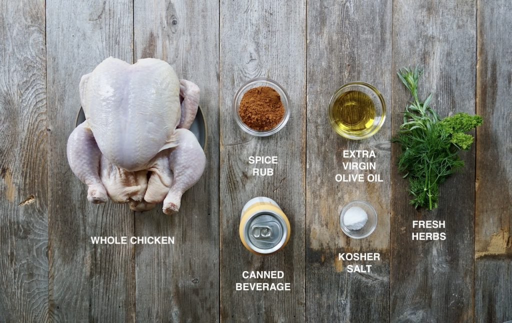 Ingredients for Perfect Beer Can Chicken