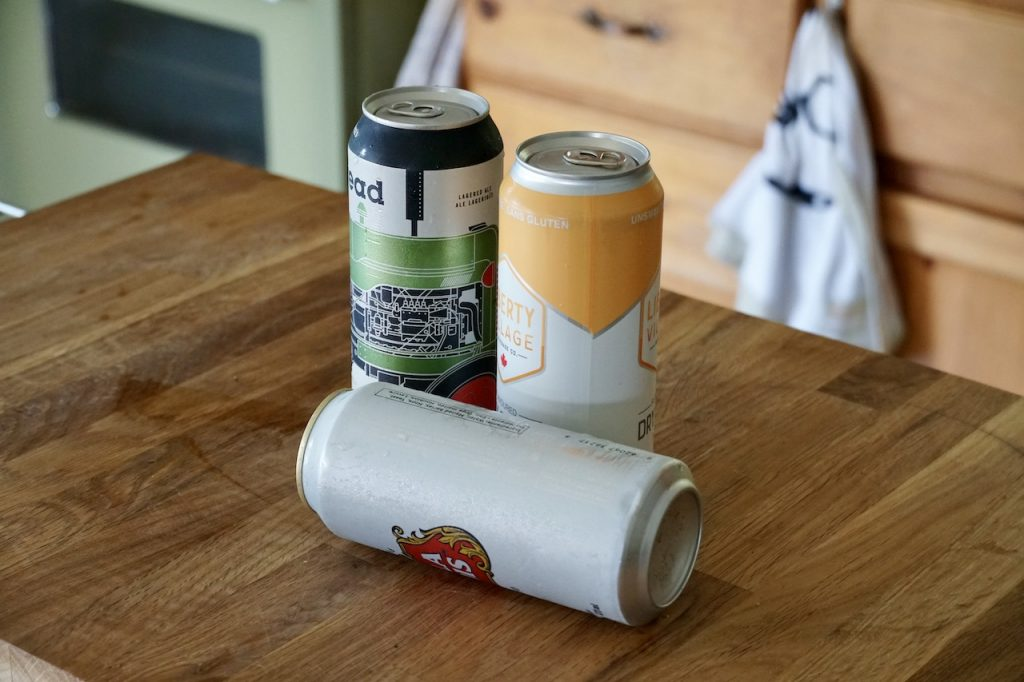 Canned beverages work best for this recipe