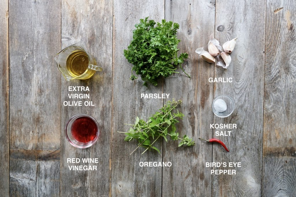 Ingredients for Easy Chimichurri Sauce