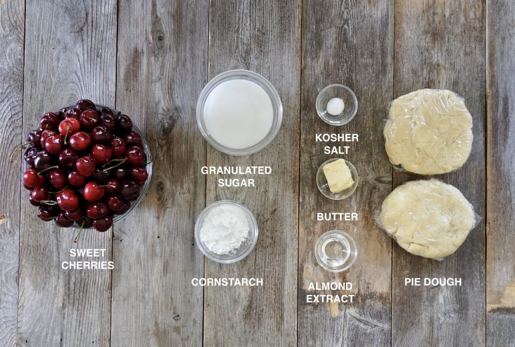 Ingredients for Homemade Cherry Pie