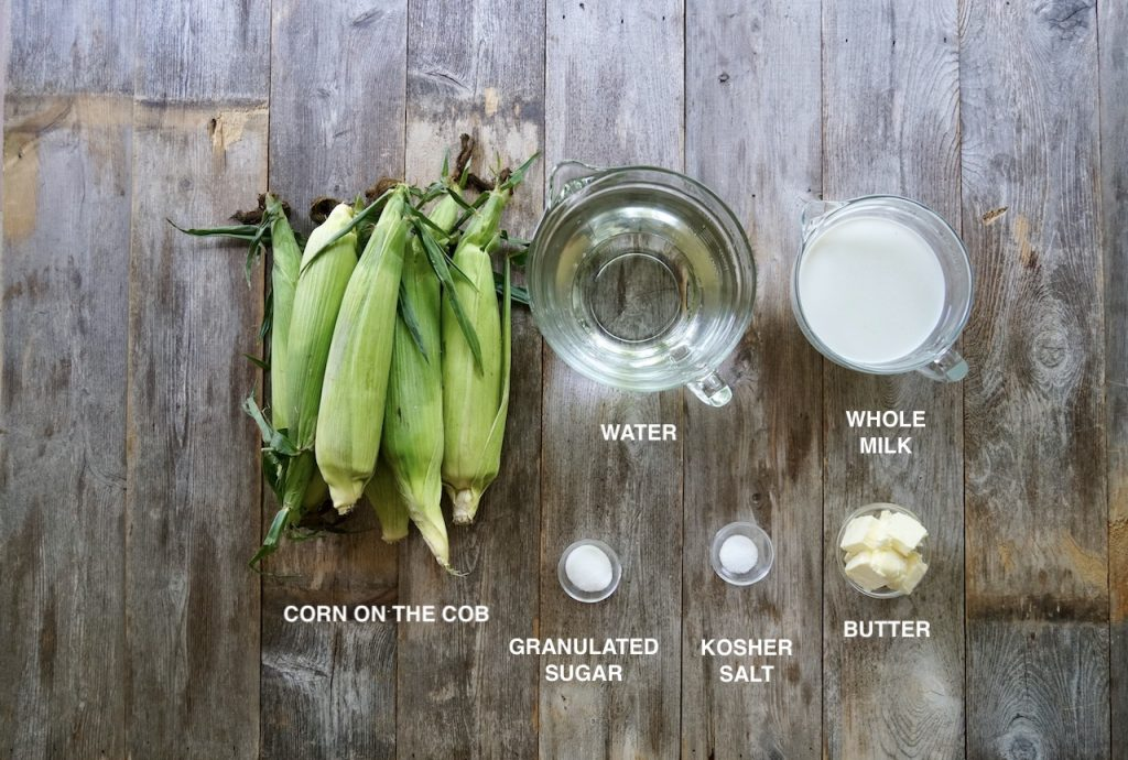 Ingredients for Butter-And-Milk-Boiled Corn