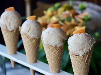 Homemade Peach-Ginger Ice Cream