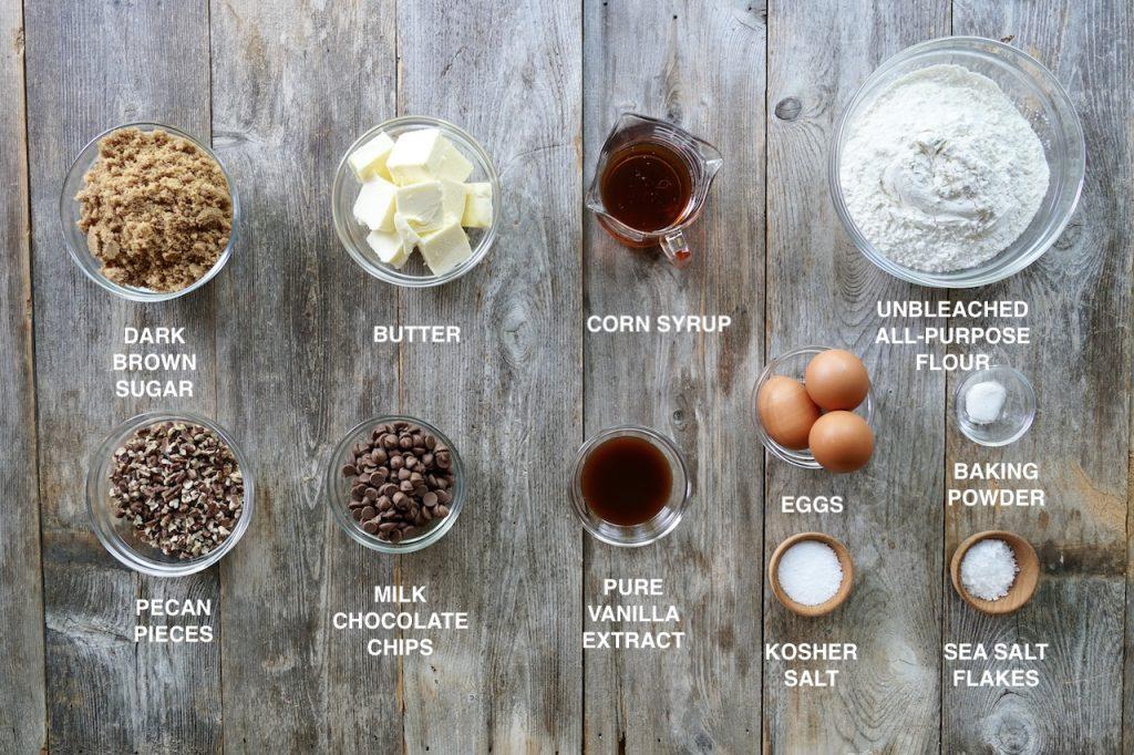 Ingredients for Brown Butter Blondies