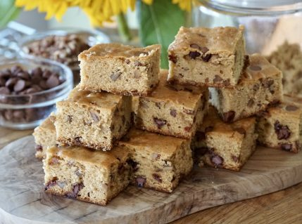 A huge stack of Brown Butter Blondies