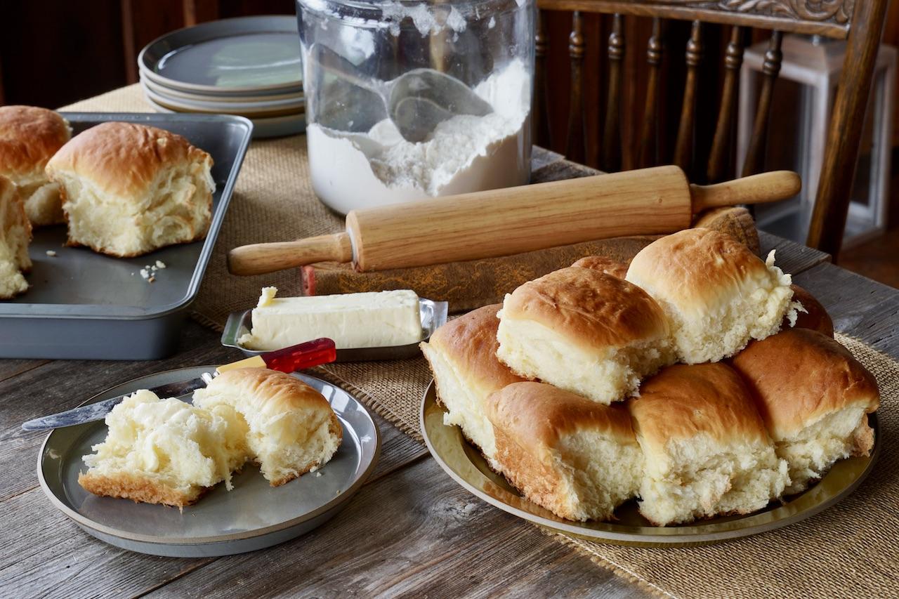 Mennonite Potato Dinner Rolls