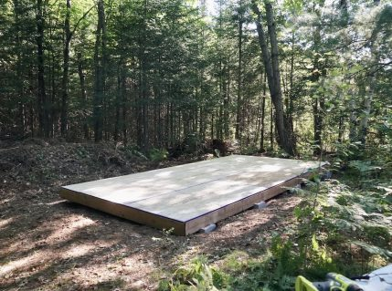Image of the floor for Let's Build A Storage Shed
