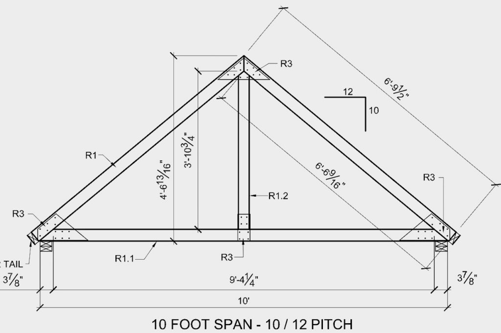 Detailed plans for the roof trusses