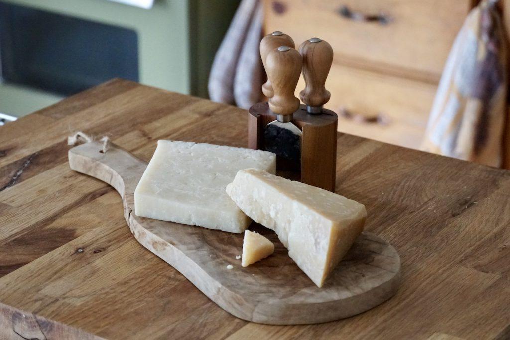 Parmigiano-Reggiano and Pecorino Romano