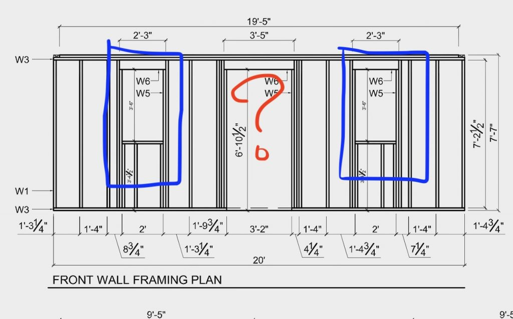The plan that needs to be altered to fit the windows