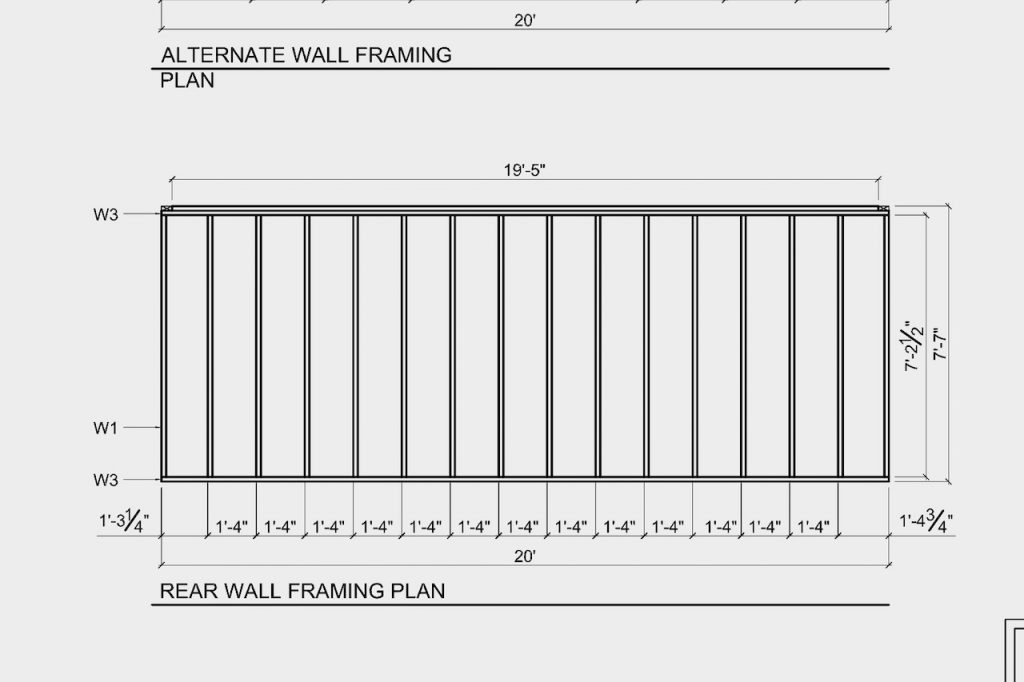 Plans for the back wall